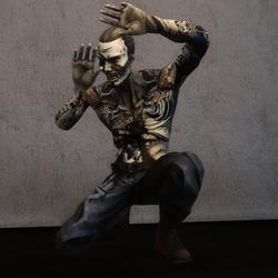 Kneeling Zombie Tattoo NPC