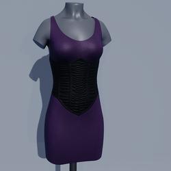 Corset Dress - Purple Grape
