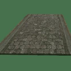 Path Straight Cobbles Curb