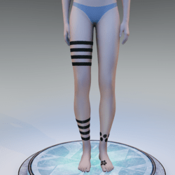 Tango Tattoo Legs female