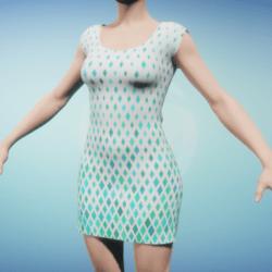 Blue Diamonds Women's Dress