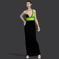 "Gilda black green ""Elisea Carter"""