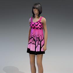 Dress Kassandra 2.0 halloween pink