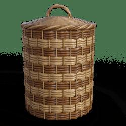 Lidded wicker cheese basket