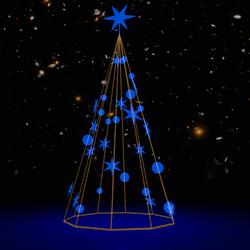 Light Christmas Tree  Blue  Set
