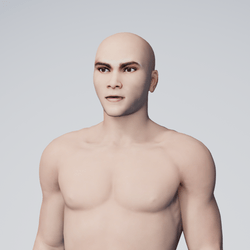 Mike | Male asian with custom texture, medium brown eyes