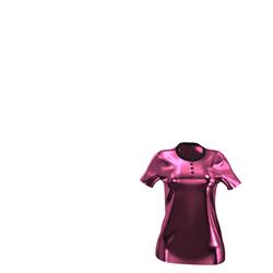 NEW Luxury Line - Dark Pink Velvet Polo-Shirt