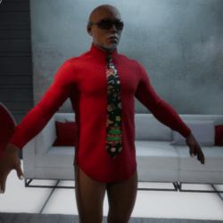 XmasShirt_tie_Red