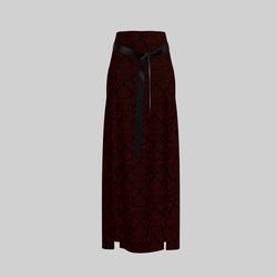 Skirt Briana Damask Red & Black 2.0