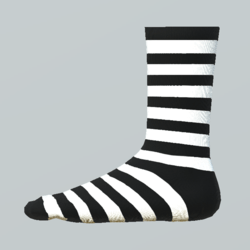 Striped Girl Socks white-black