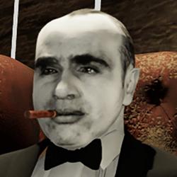 Al Capone rigged mask