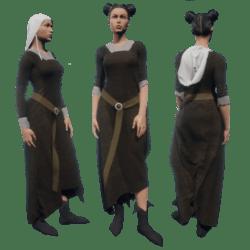 Medieval peasant female complete