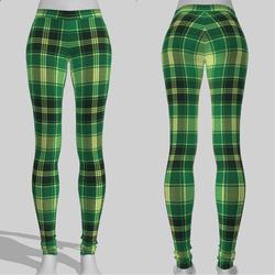 Leggings Maddy Plaid Green