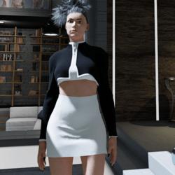 Suit black-white