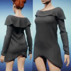 Snoodie Dress or Top -Grey