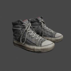 Mens Scruffy Sneakers - Grey