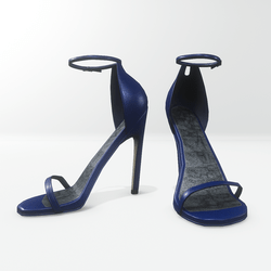 Ankle strap sandals for Nicci - leather classic blue