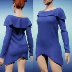 Snoodie Dress or Top -Blue