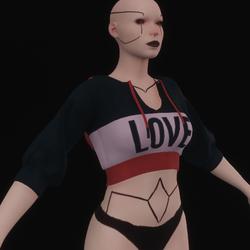 """""""LOVE"""" Pink Short Sleeved Hoodie"""