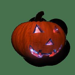 Pumpkin Head w/ Blue Animated Electric Flaming Eyes (Male)