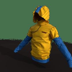 Urban Ninja Jacket (male/yellow)