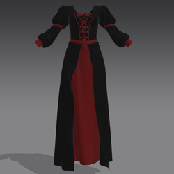 Gothic black and red Dress
