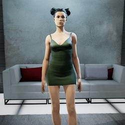 CLELIA strappy dress green