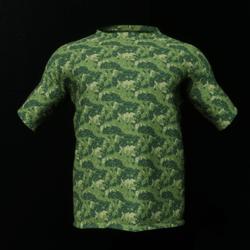 Dark Green Camo Male T-Shirt