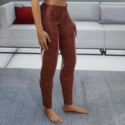Sports Pants in Rust