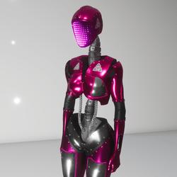 Lady Futura avatar (pink animated)