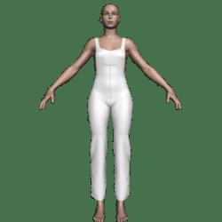 Hemmed Overalls (Plain)