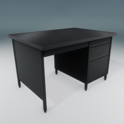 Metal Office Desk with Drawers