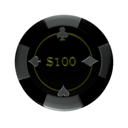 Poker chip 100 (colision)