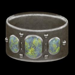 Cabochon  Bangle Bracelet - Silver