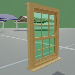 Box Sash Window Furniture With Bars Light Oak