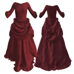 Victorian Christmas red robe