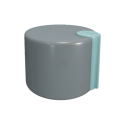 Teal-accented Knob