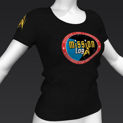 Star Trek Mission Log - Mission Log T-Shirt - Black - Female