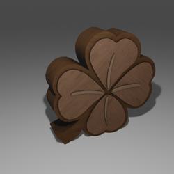 Four-leaf clover cabinet