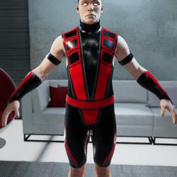 Red and Black Ninja Bodysuit