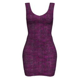 Woman Simple Dress - Boucle
