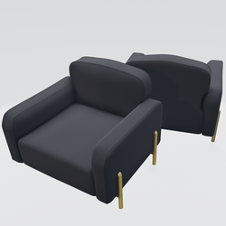 Hero Lounge Chair Black