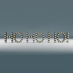 Ho Ho Ho! Marquee Blinking Sign