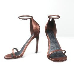 Ankle strap sandals  for Nicci - glitter coral pink