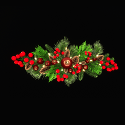 Christmas garland with fruits