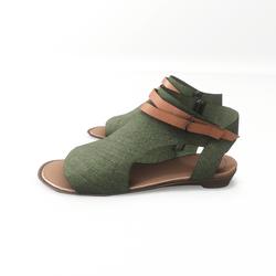 AV 2.0  Open toe textile sandals - green
