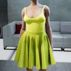 Suit. Body skirt Yellow
