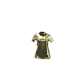 NEW Luxury Line - Gold Velvet Polo-Shirt