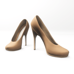 "High heel pumps for ""Alina Daisy highheels"" and ""Nicci"" avatar - light caramel"