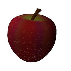 Roter Apfel 3d Model